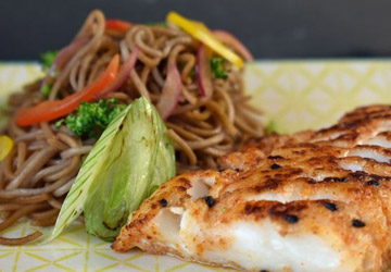 Togarashi Cod With Soy Buckwheat Noodles